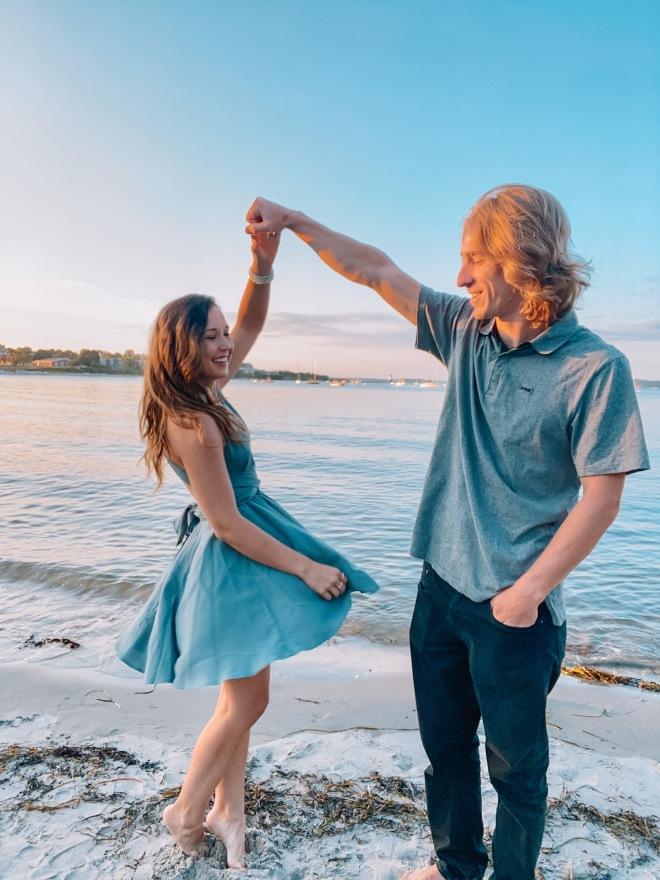 dancing beach anniversary
