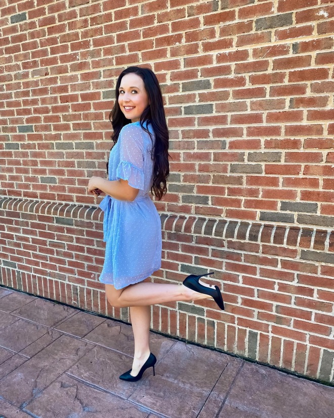 girl in heels and dress